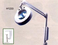 Lampada rotonda con lente (morsetto incluso) H1233