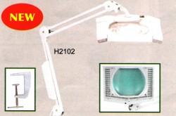 Lampada quadtrata con luci LED (morsetto incluso) - H2102