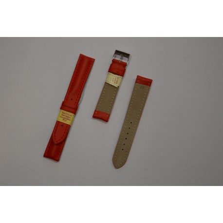 Nautilus Red Strap Leather Water Resistent