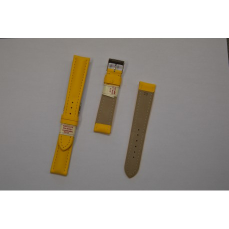 Nautilus Yellow Strap Leather Water Resistent