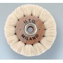 Spazzole circolari in cotone bianco filato